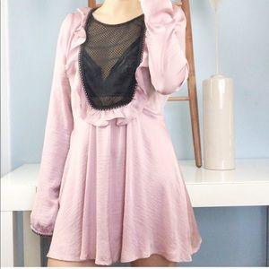 🌿For Love and Lemons Pink Long Sleeve Dress -M🌿